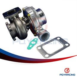 Wholesale PQY STORE GT3582 GT35 GT3582R T3 flange oil and water bolt turbocharger turbo compressor A R Turbine A R PQY TURBO32