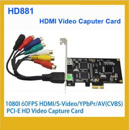 S audio vidéo hdmi en Ligne-HD881 1080P 60fps (Hz) Carte de capture vidéo HDMI, prise en charge HDMI YPbPr, S-Vidéo, AV CVBS L / R Carte de capture vidéo audio