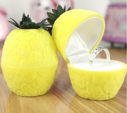 Velvet gift Box, little pineapple shape velvet gift box, fruit shape jewelry box, with no inside liners, sold by lot(10pcs lot)