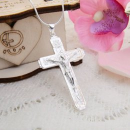 925 silver cross pendant stamped 925 silver pendant wholesale cheap price packing 10pcs mixed style cheap fashion free shipping