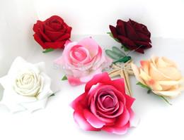 Wholesale-50 PCS High-quality Artificial velvet Rose Silk Flower Heads for wedding Car decoration B94