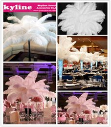 FREE SHIPPING 100pcs Ostrich Feather plume white for wedding Centerpieces wedding decor party event supplies decoraction