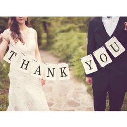 THANK YOU Wedding Card Banner Bunting Wedding Sign Married Photo Prop Wedding Free Shipping
