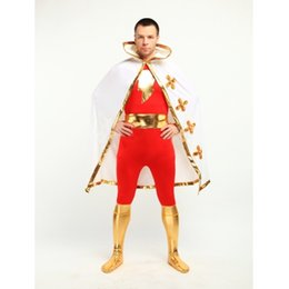 Captain Marvel Superhero Costume Cosplay Halloween Lycra Spandex Zentai Suit