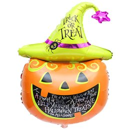 Wholesale Best Deal New Fashion Good Quality Halloween pumpkin head Decorative Foil Balloons for Party Decorations PC
