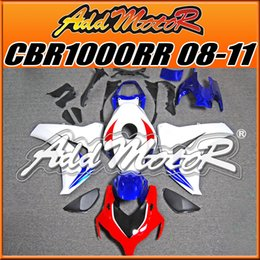 Wholesale Addmotor Injection Mold Aftermarket Fairings Fit Honda CBR1000RR CBR RR Body Kit Blue Red H1822 Five Free Gifts