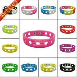 Wholesale Hot Sale New Mix colors cm or cm Silicone Bracelet for shoe charms silicone bracelets wristbands charms bracelets party gifts