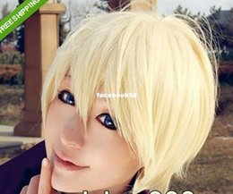 Wholesale 2014 Brazil World Cup kuroshitsuji Alois Trancy Short Yellow cream Cosplay Party Hair Full Wig