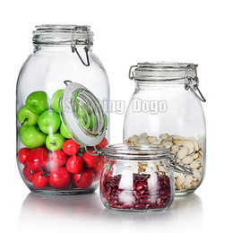 Smoking Dogo Wholesale High Quality Dampproof Clear Glass Jars Tobacco Storage Container Dry Herb Storage Jar Free Shipping