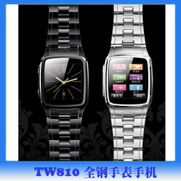 Wholesale Recruitment cooperation agency slim touchscreen steel background QQ Bluetooth smart watch phone TW810