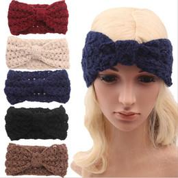Winter New fashion women Wool Knitted Headbands Hollow out Fashion Turban Headband Crochet Elastic Hair Bands Ladies ear warmer