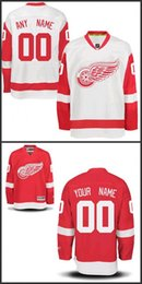Wholesale Custom Detroit Red Wings Jerseys Authentic personalized Cheap Hockey Jerseys Any Number Name Embroidery Logos size S XL