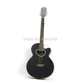 Wholesale 40 Cunxin shaped sound hole personality guitar black acoustic guitar acoustic guitar accessories national mail delivery