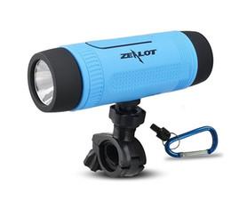 Zealot S1 CSR4.0 4000mAh Bluetooth Speaker Sport Biyecle Riding Speaker HD Stereo LED Flashlight Power Bank Microphone For Samsung iPhone PC
