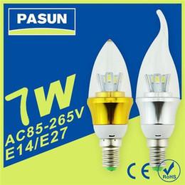 Descuento cree llevó la garantía Bombillas LED E14 E27 B22 bulbo de la vela del CREE SMD 5730 7W Luces Lámparas AC85-265V llevó bombilla de la lámpara de iluminación Súper Brillo de 3 años de garantía para el hogar
