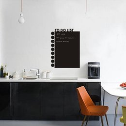 Wholesale Convenient Calendar TO DO LIST Chalkboard Wall Decor Sticker Waterproof Removable Home DIY Blackboard