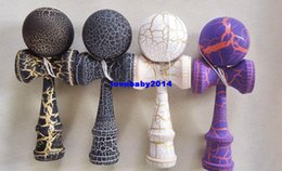 Wholesale TOP Cracked Jumbo Ball Kendama Wood Toss and Catch Game Japanese Traditional Wood Toy