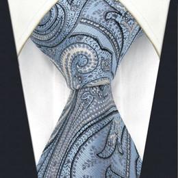 U7 Indigo Paisley Pattern Mens Ties Silk Handmade Wedding Fashion Classic Brand New Dress Men's Accessories Necktie