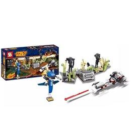 2016 NEW STAR WARS Building Blocks Compatible With pie face STAR WARS Battle on Saleucami BARC SPEEDER Clone War toy Kids Gift