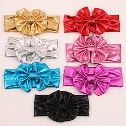 SALE! Scrunchy Girls Glitter Bows for Hair Flower Sparking Turban Headband Elastic Hair Bands Floral Bow Knot Headbands 7 colors 20PCS