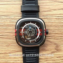 Wholesale 2015 Hot selling SevenFriday P3 BB SPECIAL EDITION MM big Dial Leather Strap S7 Movement Automatic watch men original box