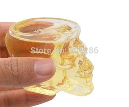 Wholesale mini crystal head vodka skull cup mug Shot Glass Whiskey drink Ware For Home Bar night club Supplies T
