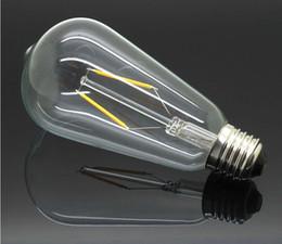 Sapphire substrate Super bright ST64 E27 Lamp Bombillas AC110-240V COB LED Filament Bulb Edison Chandelier Lights Home Retro Lighting