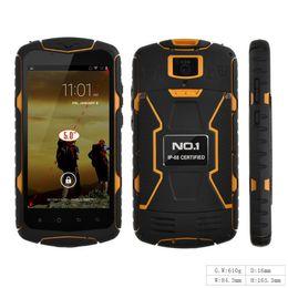 Wholesale ePacket New Original NO X1 X Men IP68 MTK6582 Quad Core GB RAM GB ROM mAh Battery Waterproof Shockproof Android mobile phone