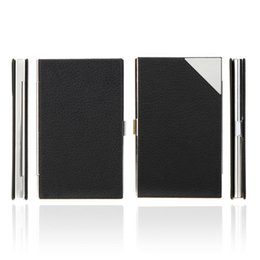 Waterproof Stainless Steel PU Leather Case Box Business Name ID Credit Card Holder Case Cover Brand New