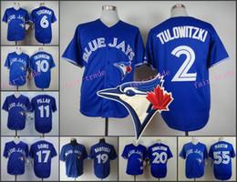 Wholesale Toronto Blue Jays Jersey Troy Tulowitzki Marcus Stroman Encarnacion Kevin Pillar Ryan Goins Jose Bautista Josh Donaldson Martin