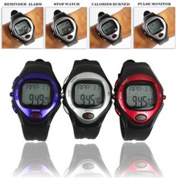 Wholesale polar heart rate monitor calorie counter watch pulse meter bike bicycle running sports pedometer watch boys waterproof digital