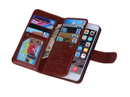 Wholesale PU Leather Wallet Case With Multi Card Slot Magnets Back Cover For samsung galaxy note s6 iphone plus s