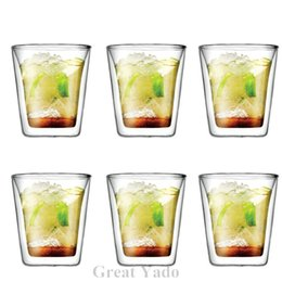 Wholesale Set of Original Bodum Assam Double Wall glass cup mug shot glass wine glasses for tea espresso coffee ml