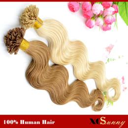 "XCSUNNY 18"" 20"" Natural Hair Extensions Keratin Nail Tip U Tip Hair Extensions 100g 1g s Peruvian Remy Hair Extensions Stock"