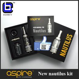 Promotion aspire atlantis méga Aspire origine mini-réservoir 2ml Nautilus Nautilus kit de 5ml atomiseur en verre avec Replacment BVC bobines réservoirs vs mini-subox de atlantis 2 méga