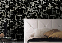 Geometric wallpaper 3d abstract wallpapers non-woven wallcovering background wall modern wallpaper black for living room