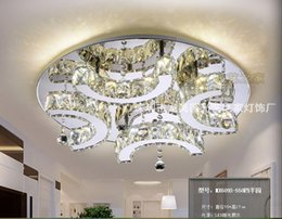Modern D550mm Clear crystal LED ceiling light Home Living room Bedroom LED Ceiling Lamps Free Shipping 100% Guaranteed Remote Control