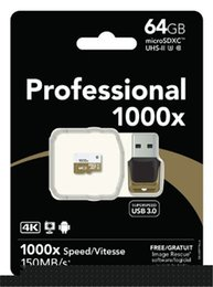 Wholesale 2017 GB GB GB microSDXC UHS II X High Performance U3 Memory Card USB Reader Pack MB s for tablet PC epacket
