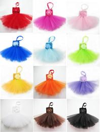 Vêtements de ballet pour bébé en Ligne-12 couleurs robe de tutu d'une seule pièce jupe tutu souple de jupe de ballet robe de haute qualité bonbons couleurs bébé pettiskirt vêtements 0-2years