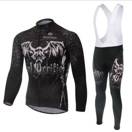 Wholesale-2015 men winter ghost team cycling jersey set long sleeve bicycle ciclismo mountain bike clothing bicicleta racing sport jerseys