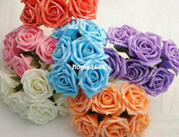 Wholesale 72pcs Dia cm Artificial Simulation PE Foam with shining powder EVA Rose Peony Flower Wedding Chistmas Party Decoration
