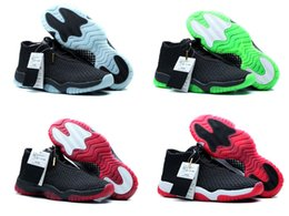 Wholesale retro future low basketball shoes sneakers bred men high cut glow white red black blue green Outdoors sports shoes US size