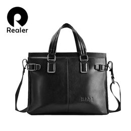 Men briefcase business bag Shoulder Messenger Bags PU Leather laptop Briefcase bag brown vintage briefcase free shipping
