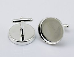 French square support 23mm time DIY gem Cufflinks Cuff Links t shirt cufflinks mens square top qulaity silver color hot sale french cufflink