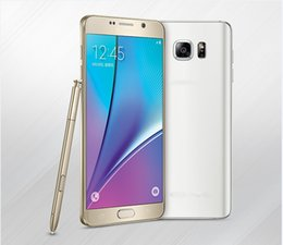 Wholesale Note5 MTK6592 Octa Core G RAM GB ROM Frame Metal with Pen inch Android Lollipop note5 Shown G Smart Cell Phone