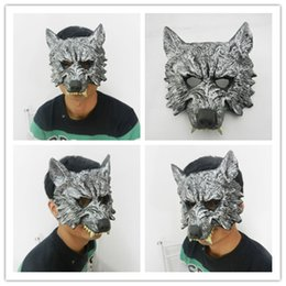 Wholesale Halloween Masquerade animal masks Full Face Silver Wolf terrorist PU cosplay masks party masks Christmas party supplies