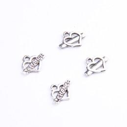 LOVE CHANCE Antique Silver Bronze Heart & Love charms Manufacture DIY jewelry pendant fit Necklace or Bracelets charm 100pcs lot 400