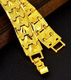 chaming yellow gold chain men's bracelet (pfmcgy88) ftyrty