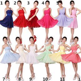 Bridesmaid Dress New Womens Elegant Chiffon and One Shoulder Party Dress Fashion Womens Waist and Slim Evening Skirt