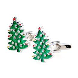 Free Shipping Very Nice Christmas Gifts Series- Christmas Tree -Green With CZ Diamond
